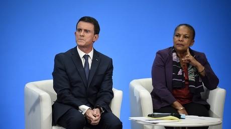 Le Premier ministre Manuel Valls et la Garde des Sceaux Christiane Taubira.