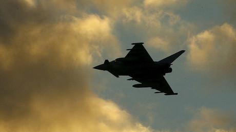 Un avion de combat Typhoon