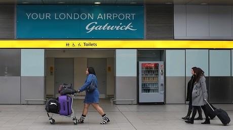 L'aéroport de Gatwick à Londres.