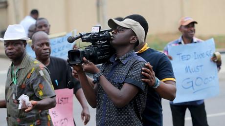 Des journalistes à Lagos