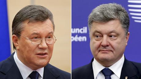 Viktor Ianoukovytch et Petro Porochenko