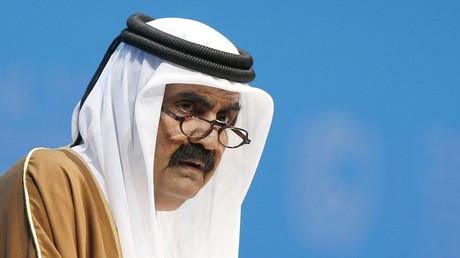 L'ancien émir du Qatar, cheikh Hamad ben Khalifa Al-Thani