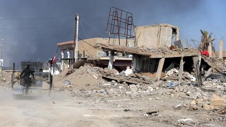 Les ruinnes de Ramadi, la ville irakienne reprise par l'armée le 28 décembre