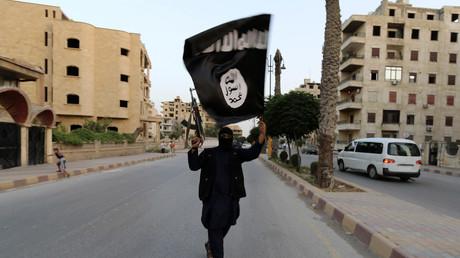 Un combattant de l'Etat islamique dans Raqqa