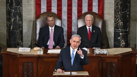 Le Premier ministre israélien Benyamin Netanyahou s'adresse au Congrès américain