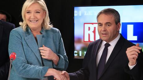 Marine Le Pen (FN) et Xavier Bertrand (LR)