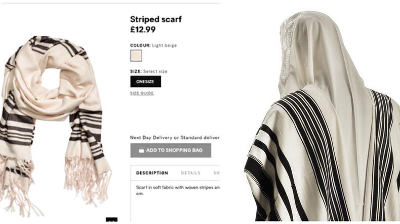 552607ebdca H M s excuse après avoir mis en vente une écharpe ressemblant à un châle  rituel