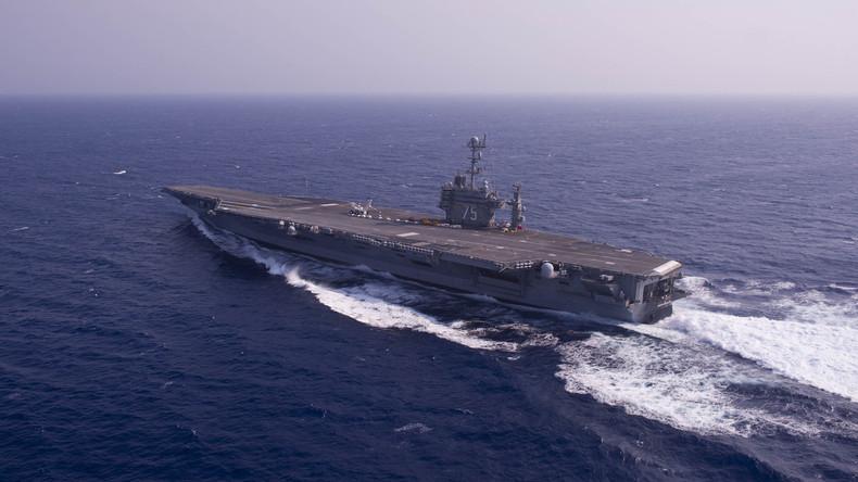 Man uvres provocantes d un porte avion am ricain apr s l arrestation de marins us par l iran - Liste des porte avions americains ...