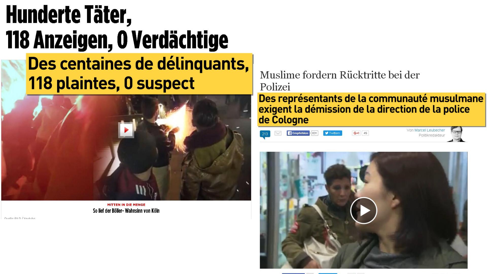 Agressions à Cologne : les médias allemands s'emparent de l'affaire