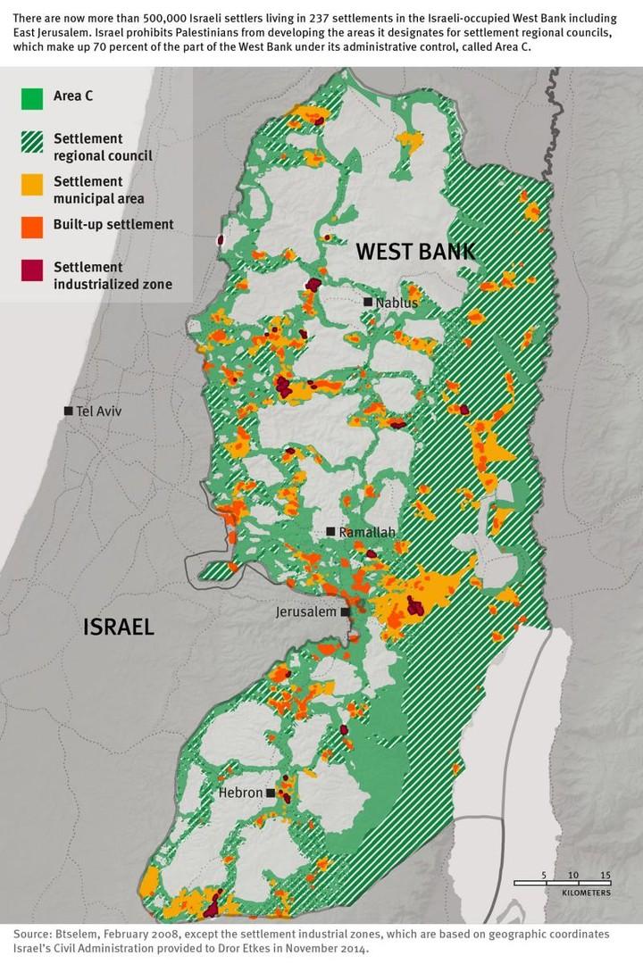 Human Rights Watch dénonce les entreprises profitant de la colonisation israélienne en Cisjordanie