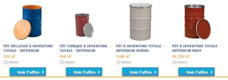 Capture d'écran sur le site hellopro.fr