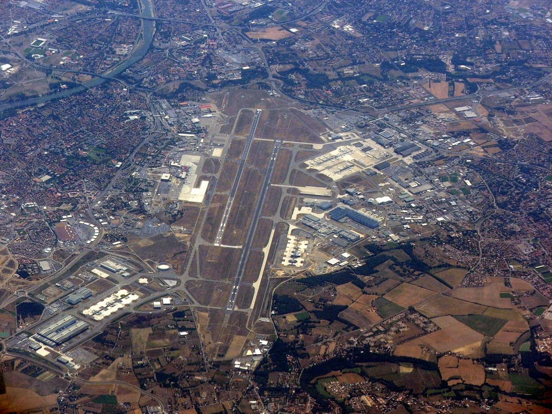Vue aérienne aéroport Toulouse