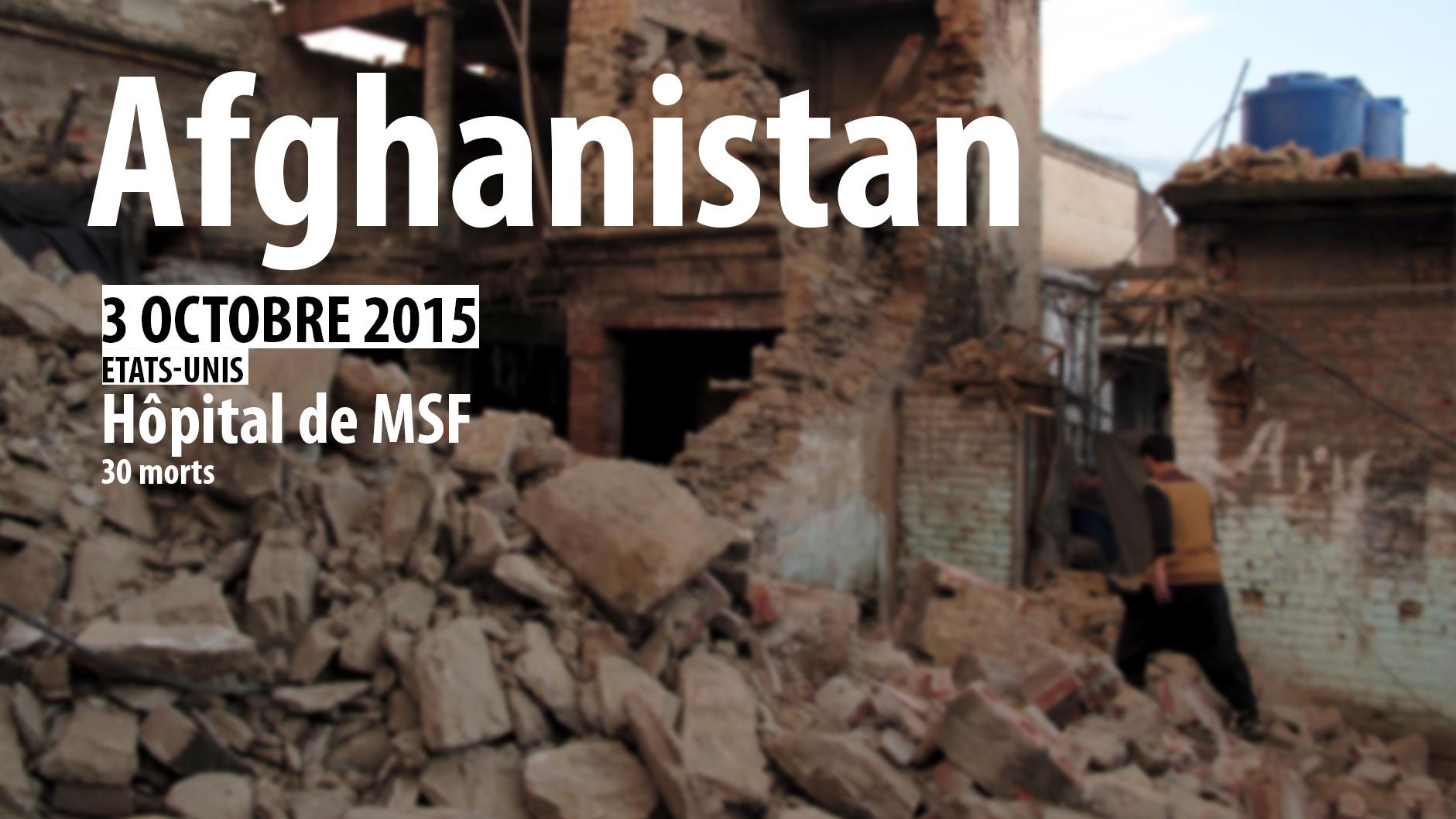 Le récap' : les six dernières frappes dont a été victime MSF