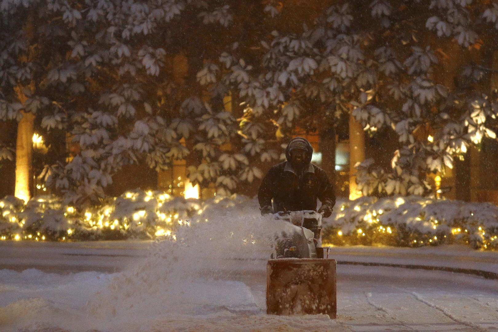 Plus de 60 centimètres de neige sont tombés à New York en quelques heures