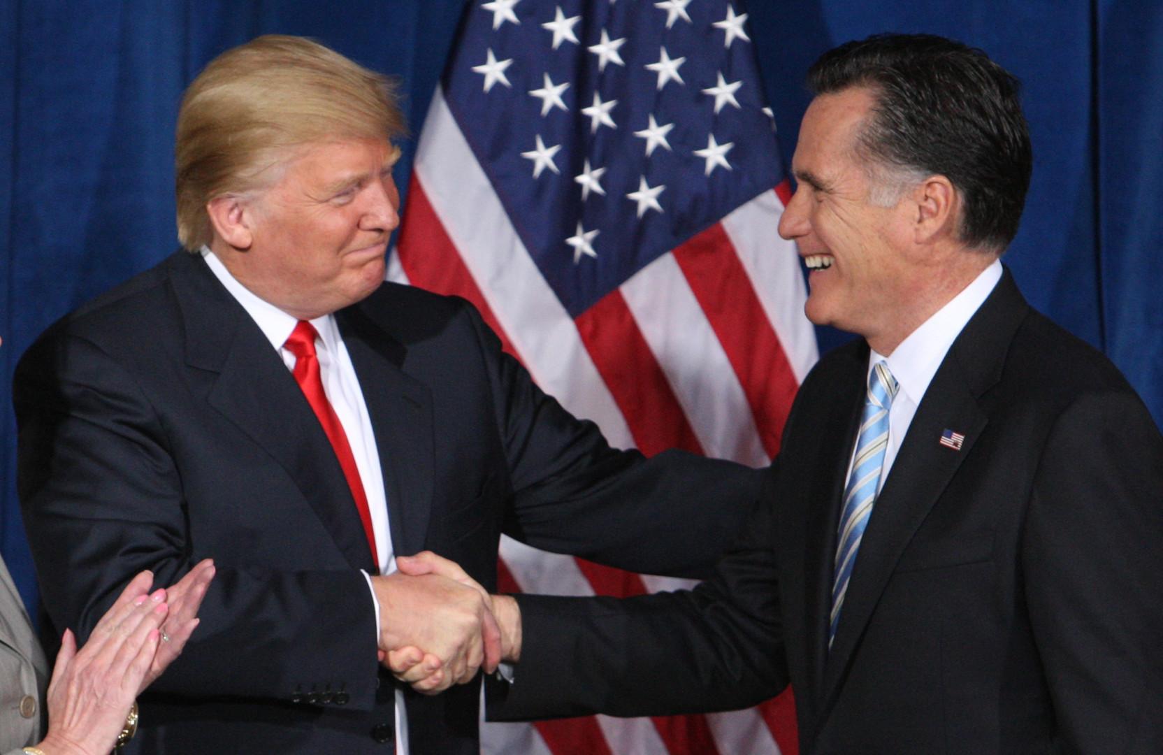 Donald Trump et Mitt Romney en 2012.