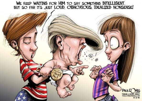 """Le Trump """"idiot"""""""
