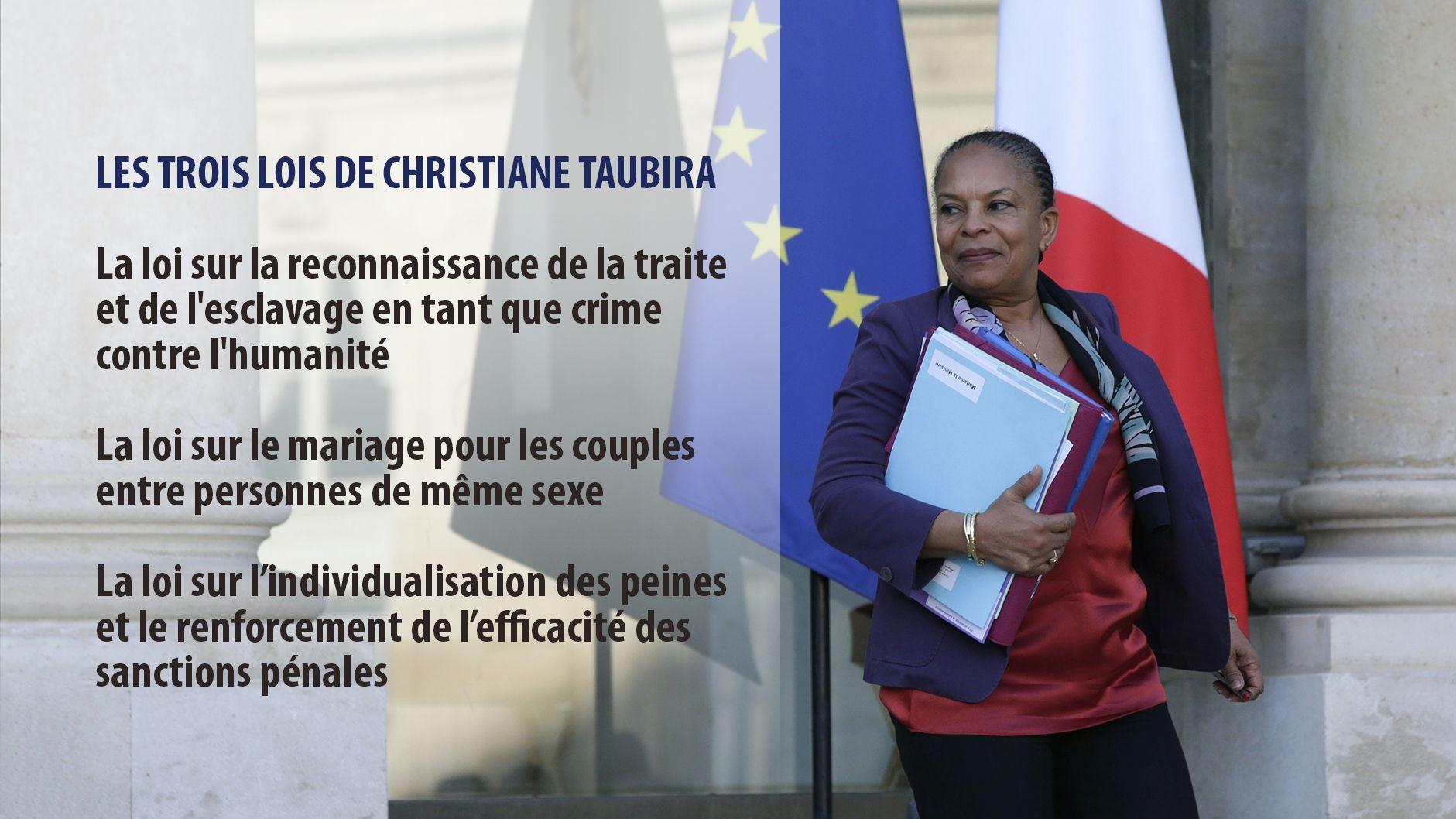 La ministre de la Justice Christiane Taubira a démissionné