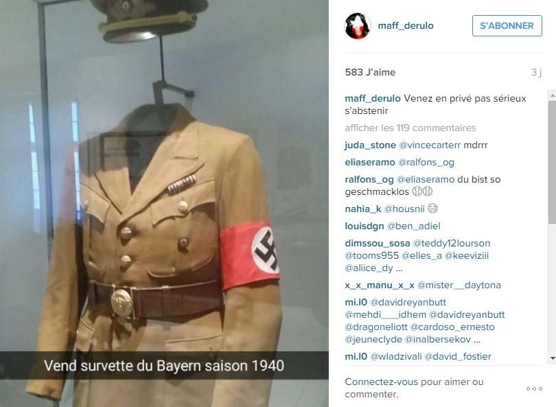 Un célèbre footballeur français fait scandale en Allemagne en «likant» un uniforme nazi