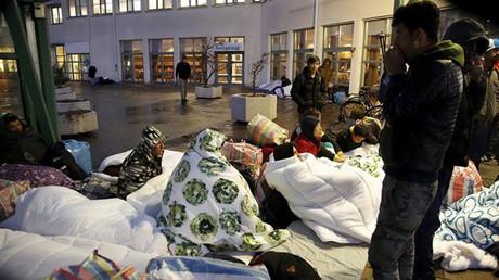 Des réfugiés à Stockholm