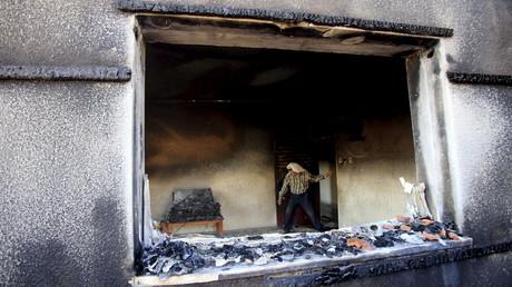 La maison de la famille Dawabcheh après l'incendie
