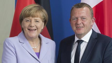 Lars Løkke Rasmussen, le Premier ministre du Danemark et Angela Merkel