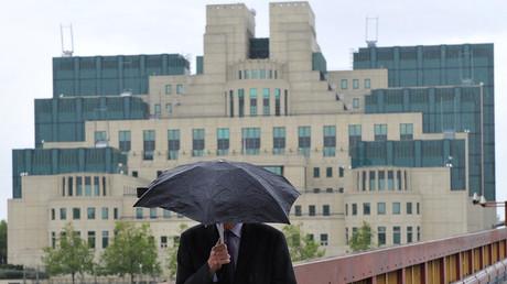 Site du MI6, le renseignement extérieur britanniques à Londres.