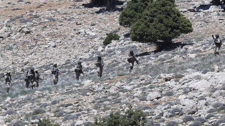 Des combattants du Hezbollah dans la région de Qalamoun au Liban