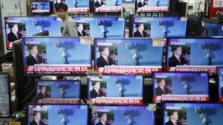 L'annonce d'un essai nucléaire diffusé à la télévision