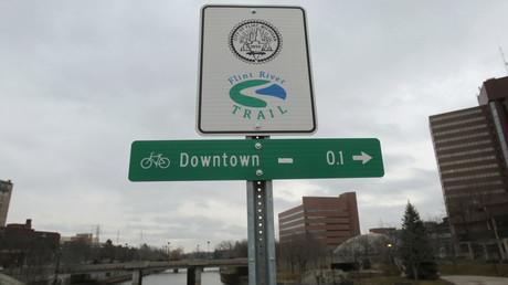 La ville de Flint et sa rivière au coeur de la polémique.