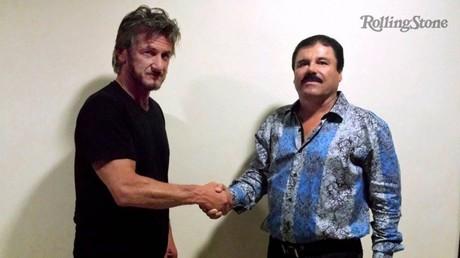 L'acteur américain et le narcotrafiquant mexicain avaient immortalisé leur rencontre d'octobre.