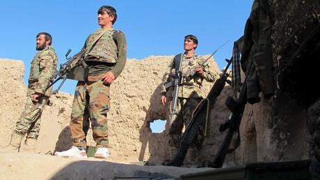 Des soldats de l'Armée nationale afghane