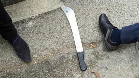 La machette utilisée par l'agresseur à Marseille