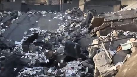 Des millions, servant à payer les combattants de l'Etat islamique, ont été détruits par un bombardement de la coalition