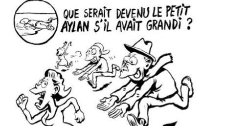 Le petit Aylan devenu prédateur sexuel, la caricature polémique de Charlie hebdo