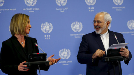 Mohammad Javad Zarif et Federica Mogherini