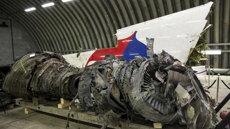 Les débris du Boeing malaisien