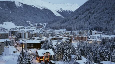 Une vue générale de Davos