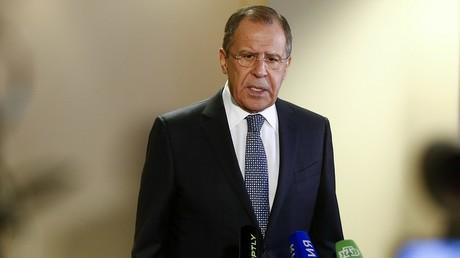 Sergueï Lavrov lors de son point presse à Zurich.