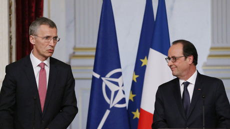 Le président français François Hollande et le secrétaire général de l'OTAN Jens Stoltenberg