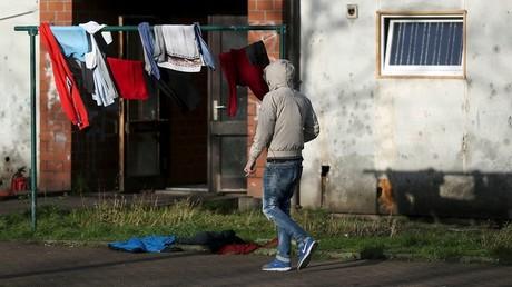 Un réfugié dans un centre d'hébergement à Recklinghausen.