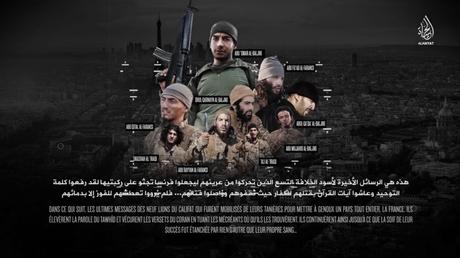 Capture d'écran Twitter de l'affiche de la dernière vidéo de Daesh