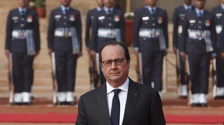 En marge de son déplacement en Inde, François Hollande a réaffirmé sa volonté de combattre l'Etat islamique