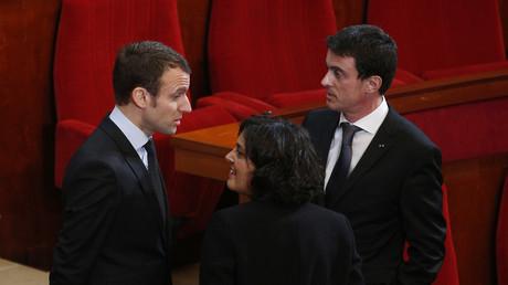 Emmanuel Macron et le Premier ministre, Manuel Valls