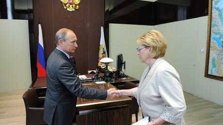 Vladimir Poutine et Veronika Skvortsova
