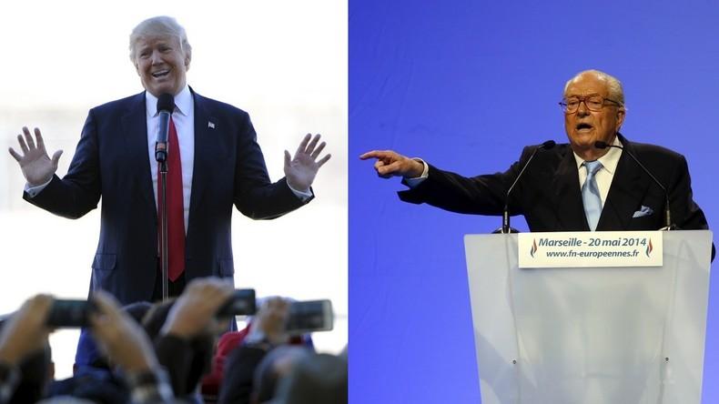 Donald Trump et Jean-Marie Le Pen