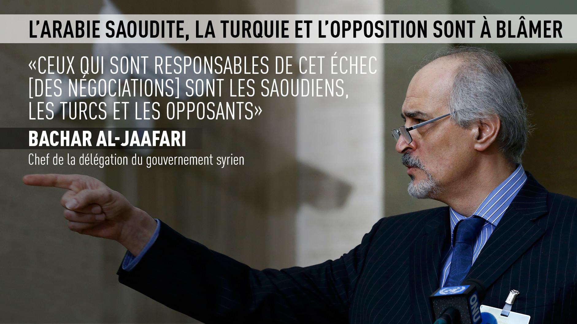 Interruption des pourparlers de Genève sur la crise syrienne : A qui la faute ?
