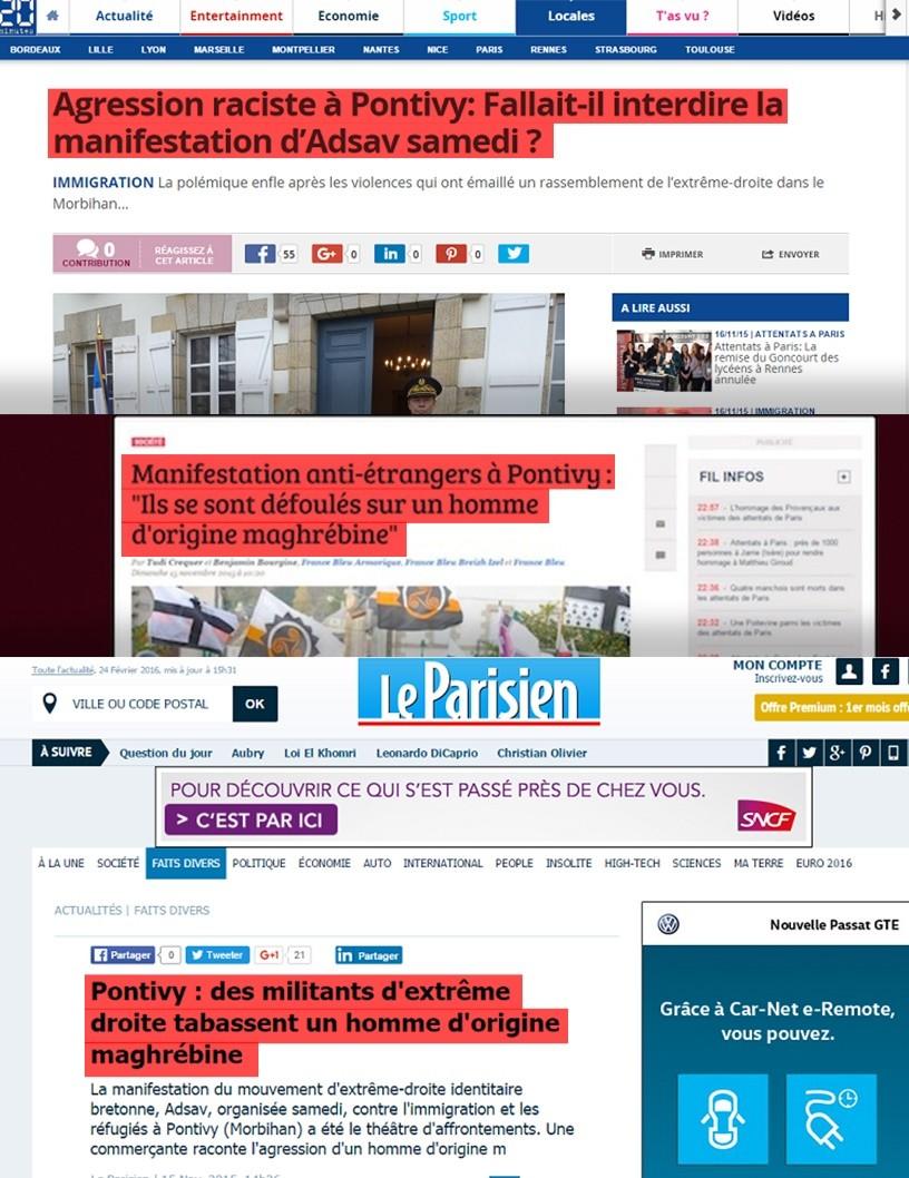 La presse française a largement repris l'information sans vérification préalable