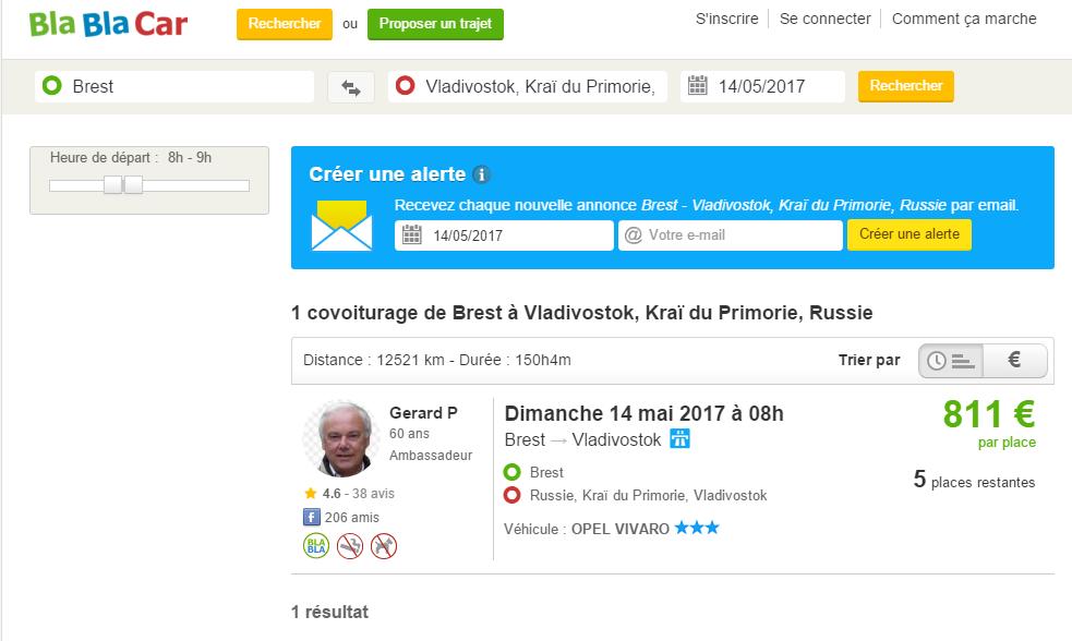 De Brest à Vladivostok : un sacré voyage... en covoiturage !