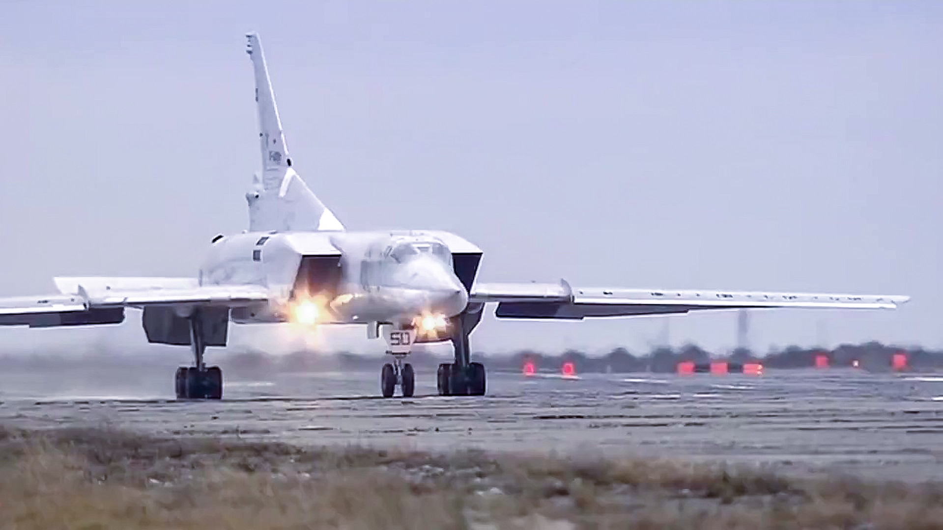 Un avion de combat russe sur la base syrienne