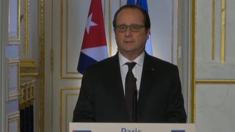 Déclaration commune à la presse de François Hollande et Raul Castro